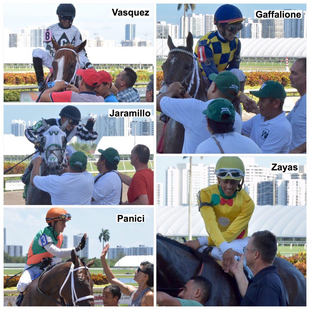 Gulfstreampark Summermeet Top Jockeys Jinetes L 237 Deres